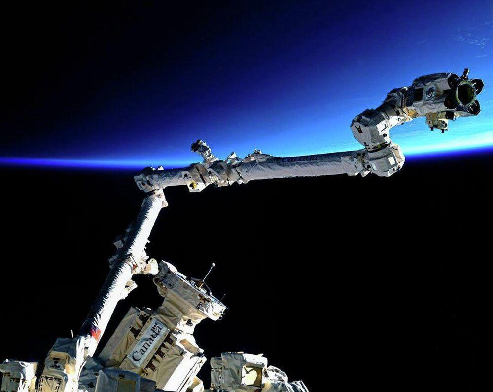 Sistema robótico canadense da Estação Espacial (SSRMS, na sigla em inglês)