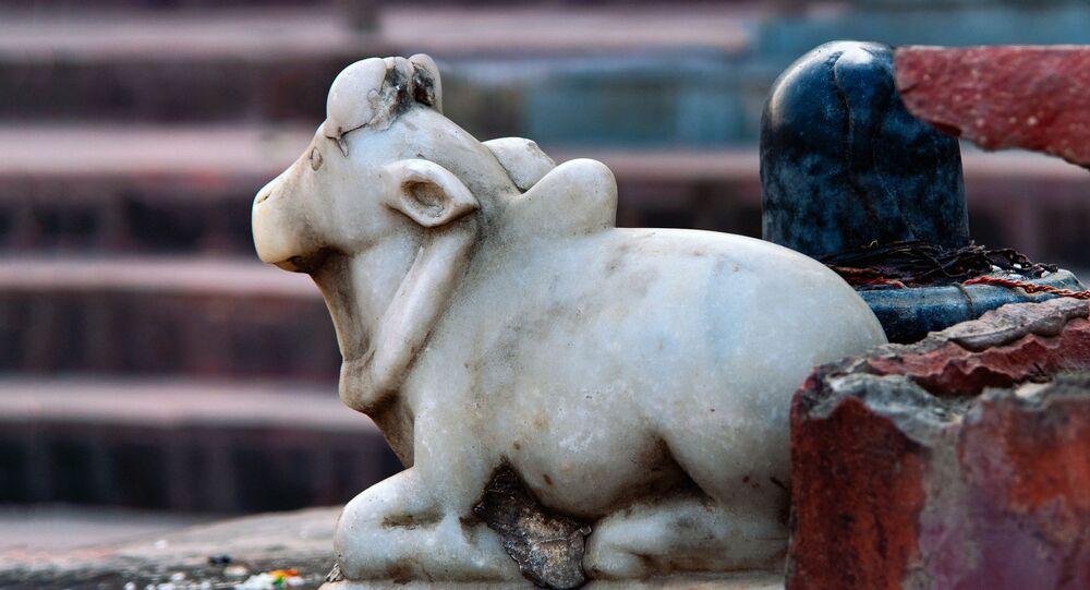 Estátua de uma vaca