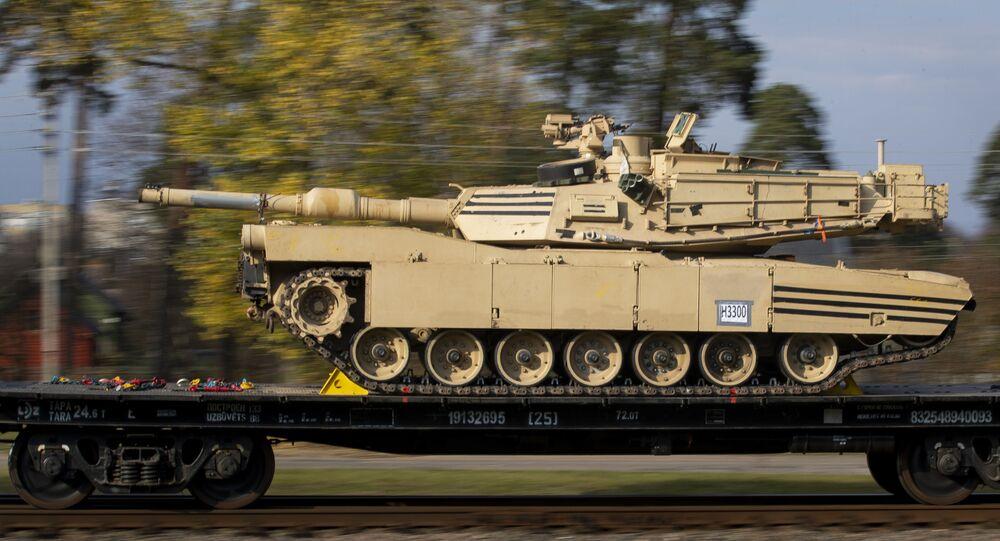 Tanque de batalha Abrams do Exército dos Estados Unidos