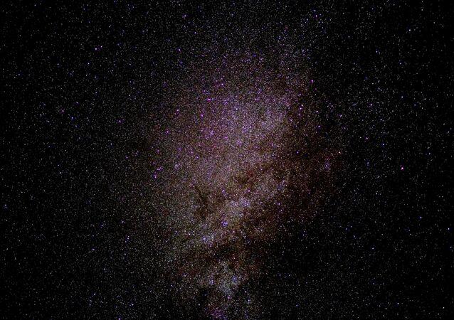 Imagem de estrelas no centro de uma galáxia