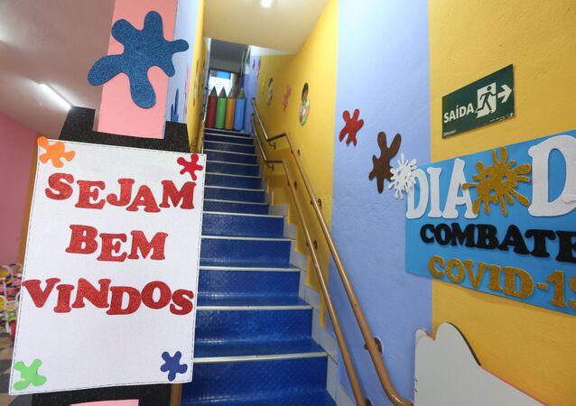 Vista interna de centro educacional em São Paulo (SP)