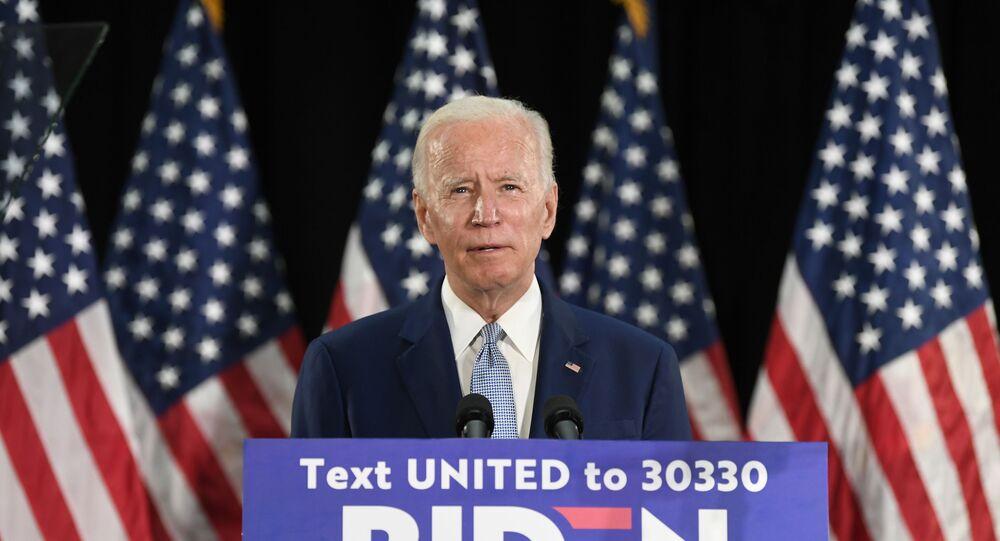 Joe Biden, candidato à presidência dos Estados Unidos, pelo Partido Democrata.