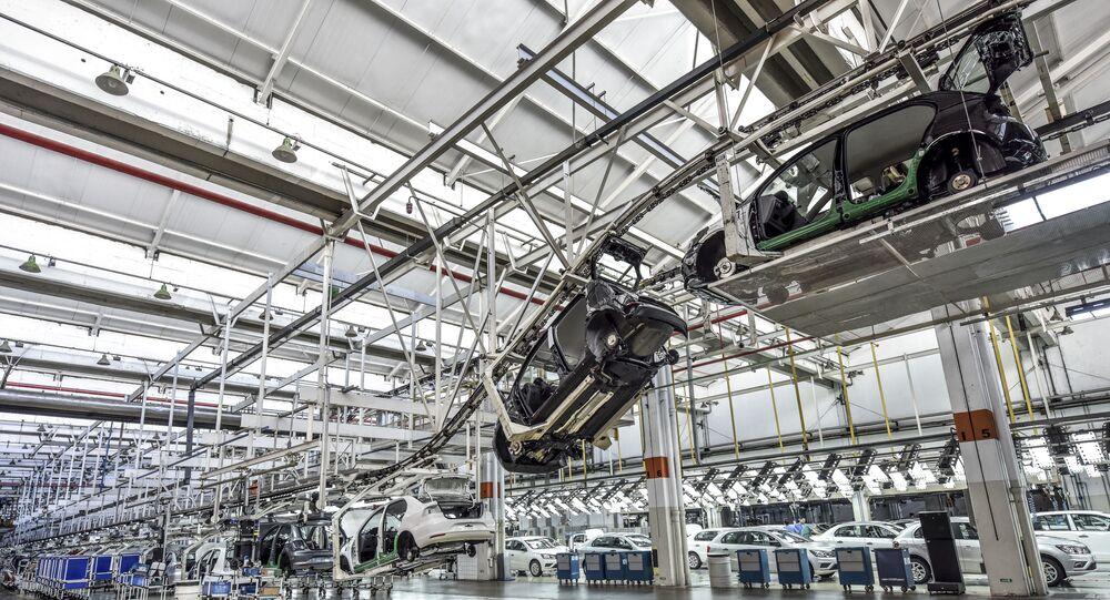 Fábrica da montadora de veículos Volkswagen, em Taubaté (SP)