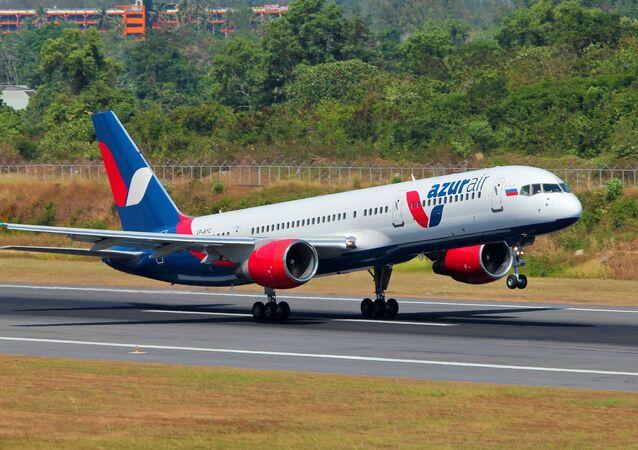 Avião da companhia aérea russa Azur Air