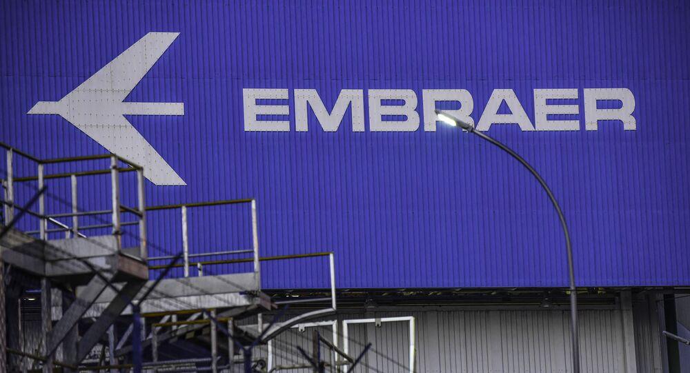 Fábrica da Embraer em São José dos Campos, interior de São Paulo.