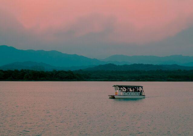 Águas rosadas (imagem referencial)