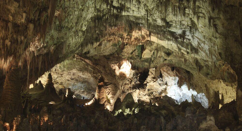 Caverna do Parque Nacional Carsbald Caverns nos EUA