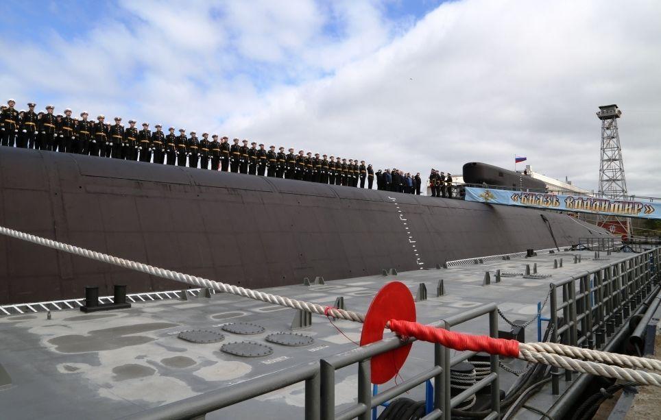 Cerimônia de comissionamento do submarino nuclear do projeto 955A Knyaz Vladimir à Marinha da Rússia em Severodvinsk