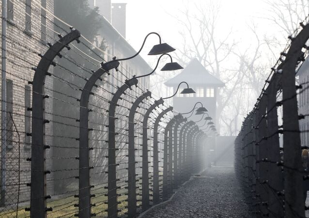 Campo de extermínio nazista de Auschwitz, em Oswiecim, na Polônia, 27 de janeiro de 2020