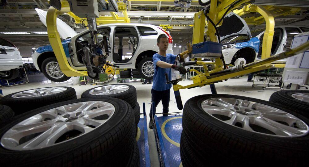 Indústria automobilística na China.
