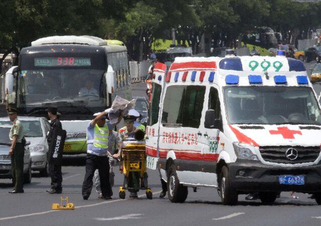 Equipes de resgate na China (arquivo)