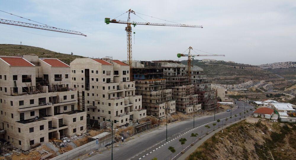 Construção do assentamento judaico de Givat Zeev, próximo da cidade palestina de Ramallah (foto de arquivo)