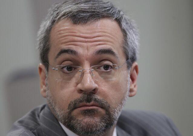 Abraham Weintraub, ex-ministro da Educação, durante audiência no Senado