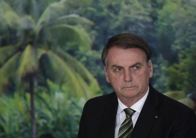 Presidente Jair Bolsonaro comparece a uma cerimônia para inaugurar o programa Agro Nordeste