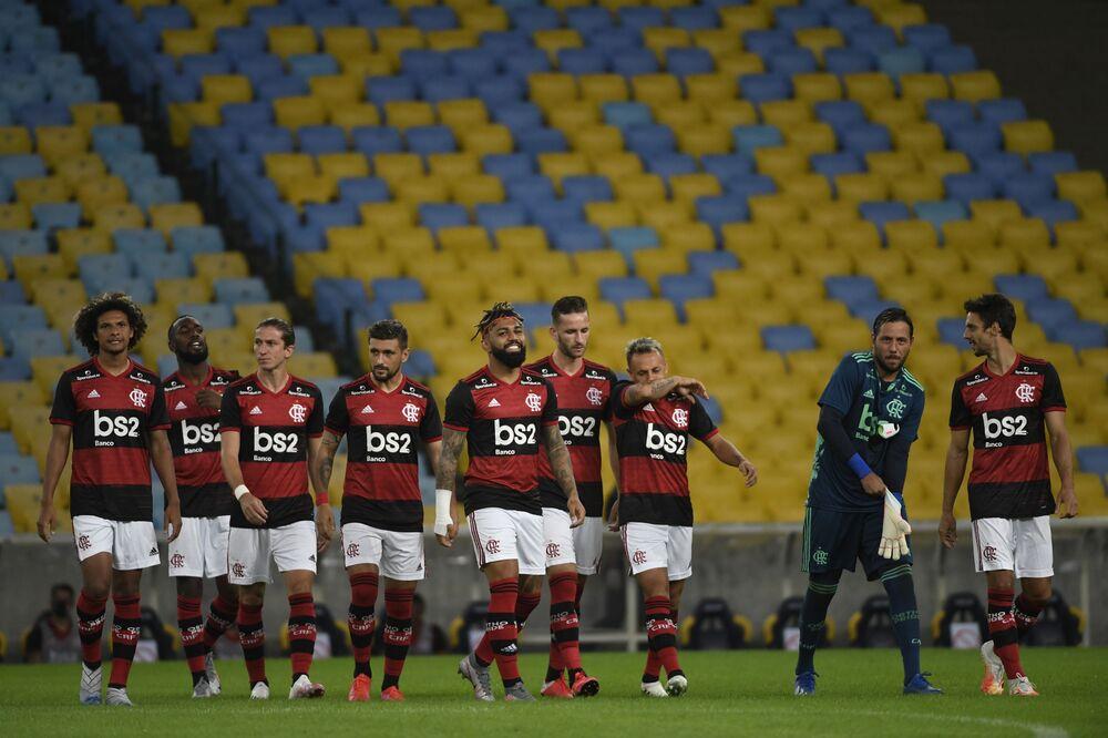 Flamengo e Bangu abrem a quarta rodada do Campeonato Carioca 2020 em jogo a portas fechadas no estádio do Maracanã durante a pandemia da COVID-19