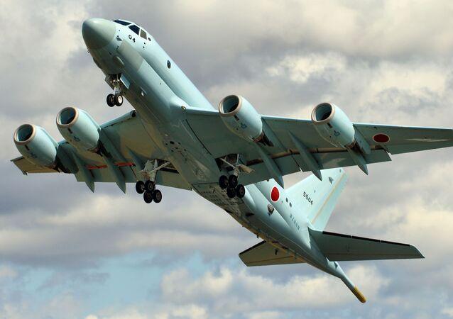 Avião de patrulha japonês Kawasaki P-1 (foto de arquivo)