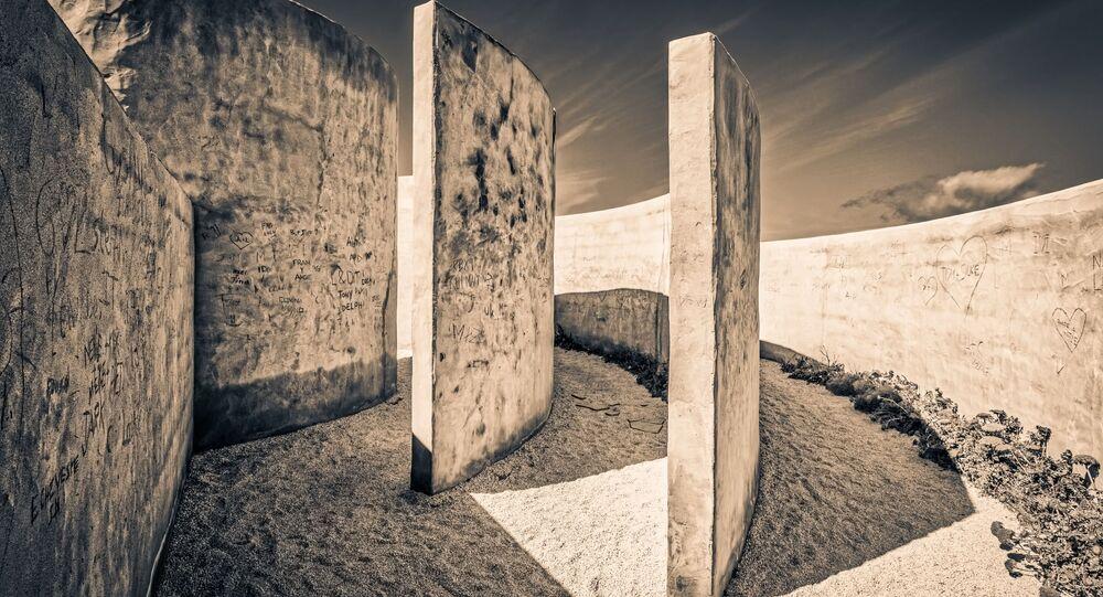 Imagem artistica de labirinto