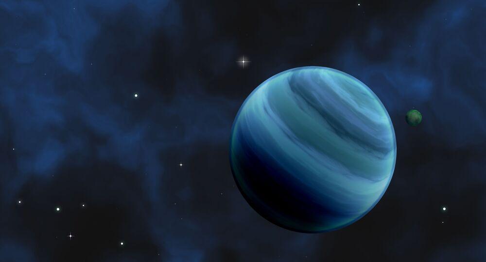 Imagem artística de exoplaneta
