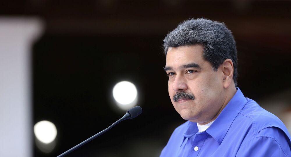 Presidente da Venezuela, Nicolas Maduro, durante evento no palácio Miraflores, na capital Caracas, 22 de junho de 2020