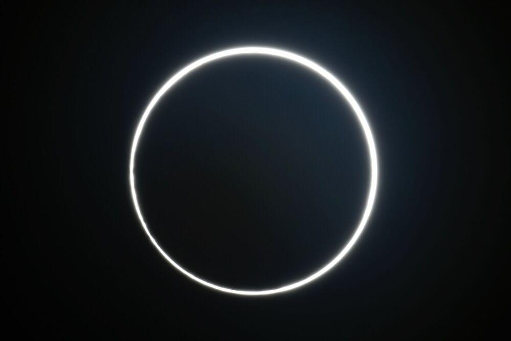 Fotografia de eclipse capturada em Taiwan em 21 de junho