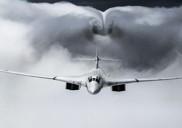 Bombardeiro estratégico Tu-160 da Força Aeroespacial russa