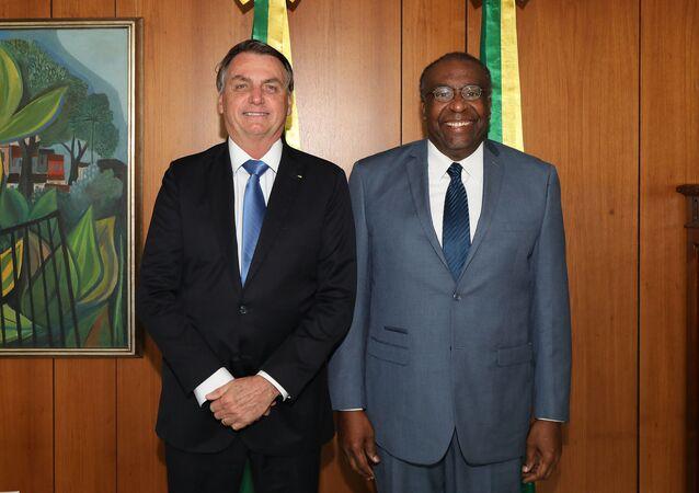 Presidente Jair Bolsonaro no ato de nomeação de Carlos Alberto Decotelli como ministro da Educação