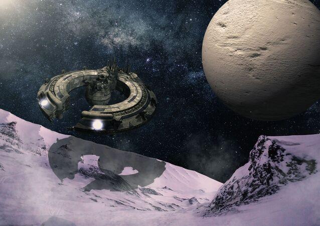 Impressão artística de colónia espacial