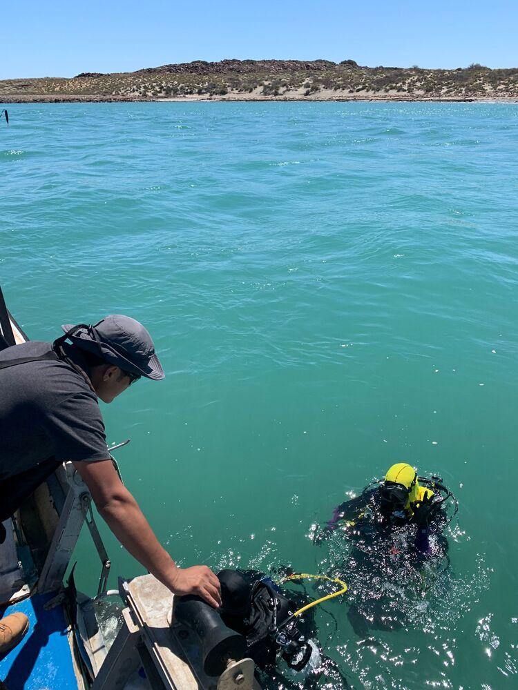 Pesquisadores da Universidade Flinders procuram artefatos aborígenes no arquipélago Dampier, na Austrália