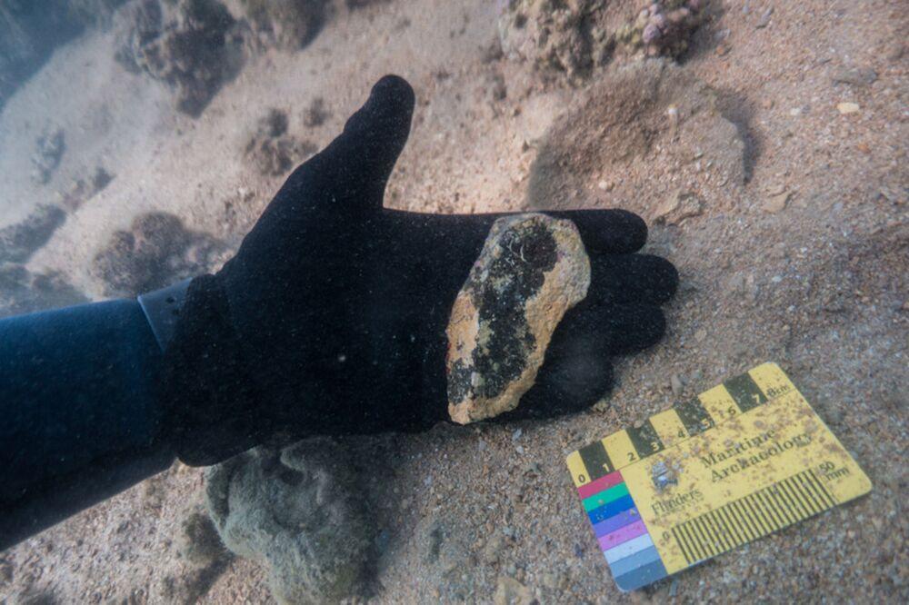 Artefatos subaquáticos encontrados na costa australiana