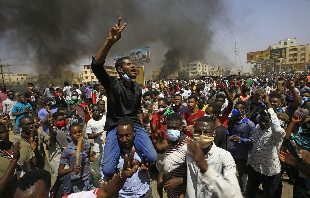 Manifestação exigindo reformas no Sudão