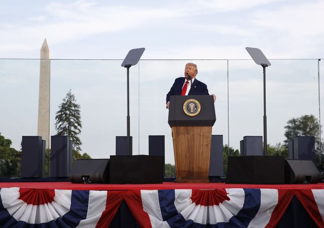 Donald Trump faz discurso de 4 de julho na Casa Branca
