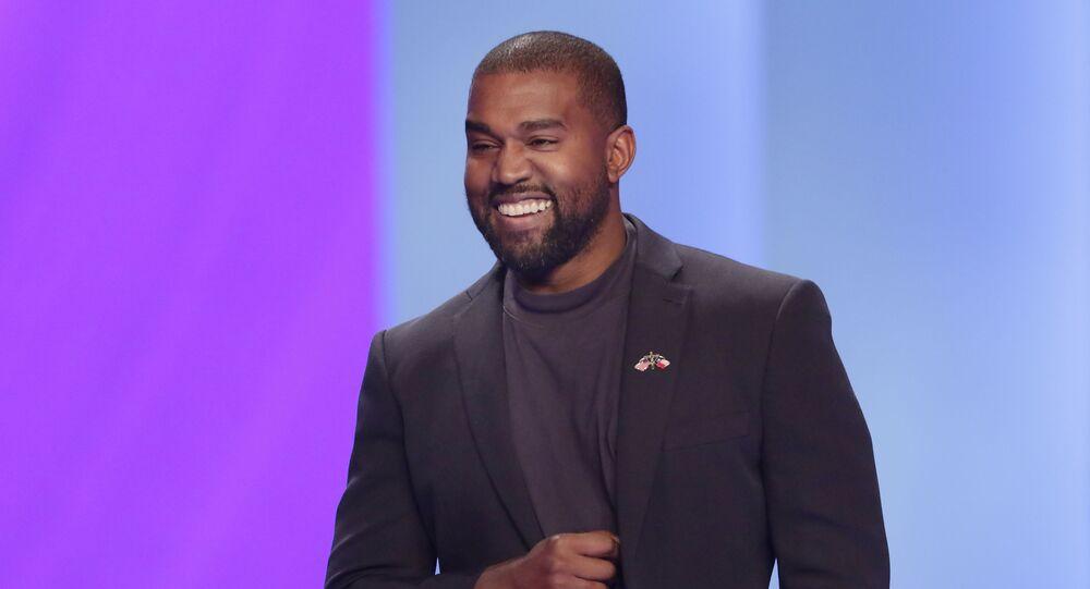 O rapper e produtor Kanye West