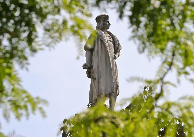 Estátua de Cristóvão Colombo em Nova York, Estados Unidos