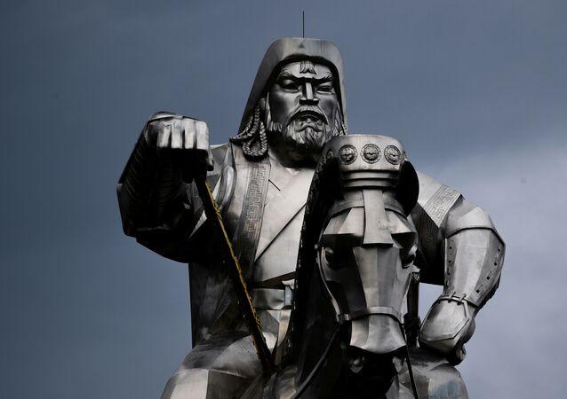 Estátua de Genghis Khan na Mongólia