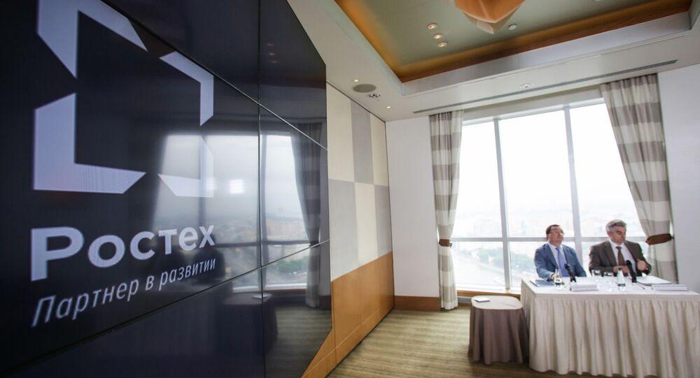 Rostec, parceira no desenvolvimento. Estatal russa é especializada no setor de alta tecnologia para uso civil e militar