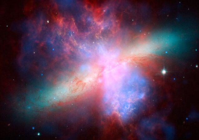Imagem de galáxia espiral