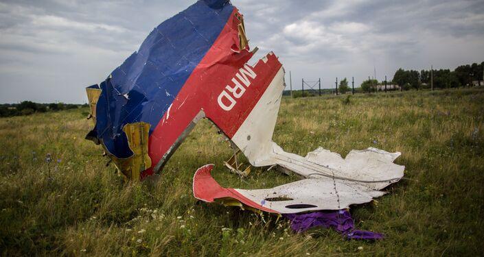 Destroços do Boeing-777 em Donetsk, no leste da Ucrânia