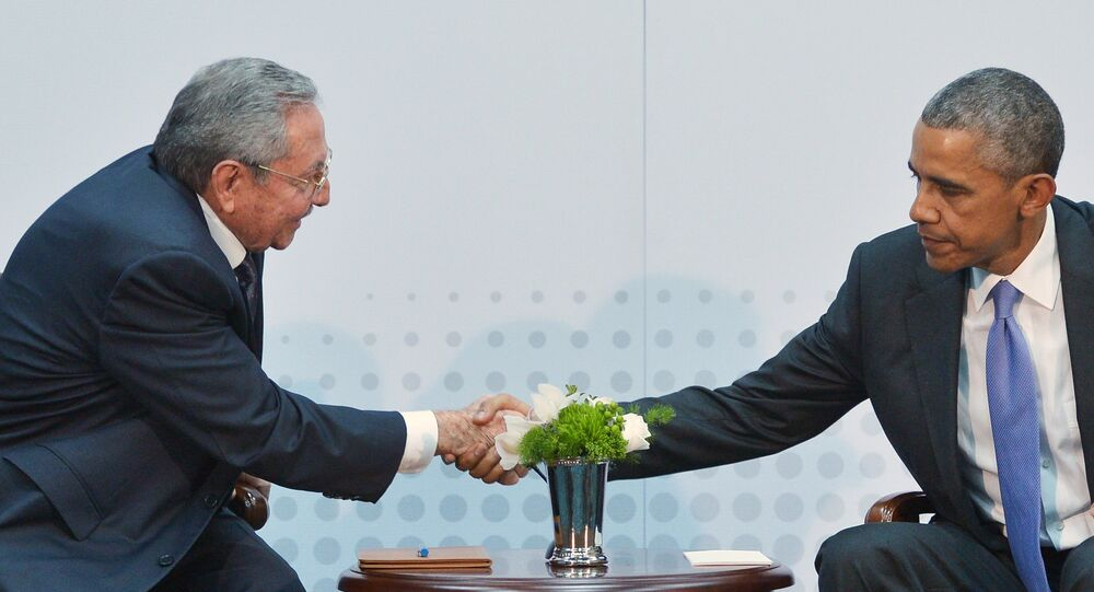 Raúl Castro e Barack Obama
