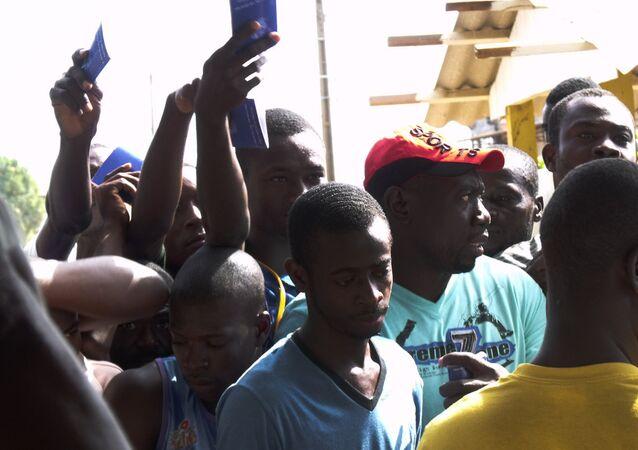Imigrantes haitianos no Acre