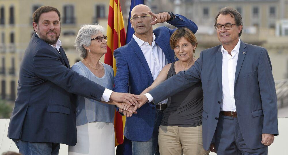 Líderes da lista unitária para as eleições de 27 de setembro na Catalunha