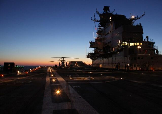 Flight Deck of Vikramaditya Aircraft Carrier