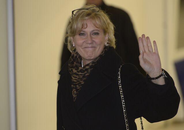 Nadine Morano chegando a um encontro com Nicolas Sarkozy, em 2 de dezembro de 2014