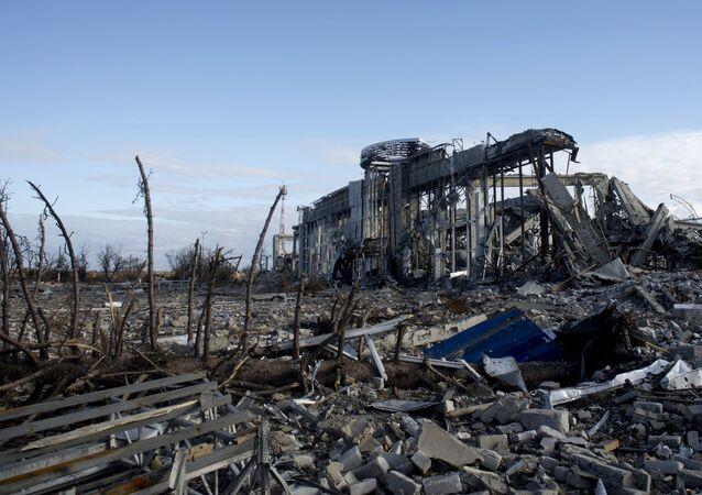Ruínas do aeroporto de Lugansk