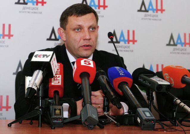 Líder da República Popular de Donetsk (RPD),  Aleksander Zakharchenko