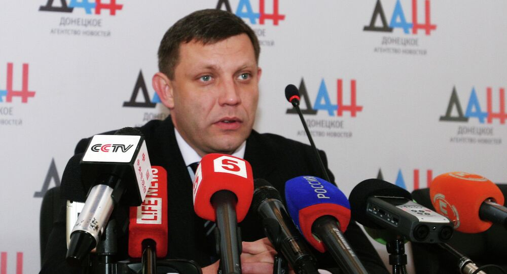 Líder da República Popular de Donetsk (RPD),  Alexander Zakharchenko