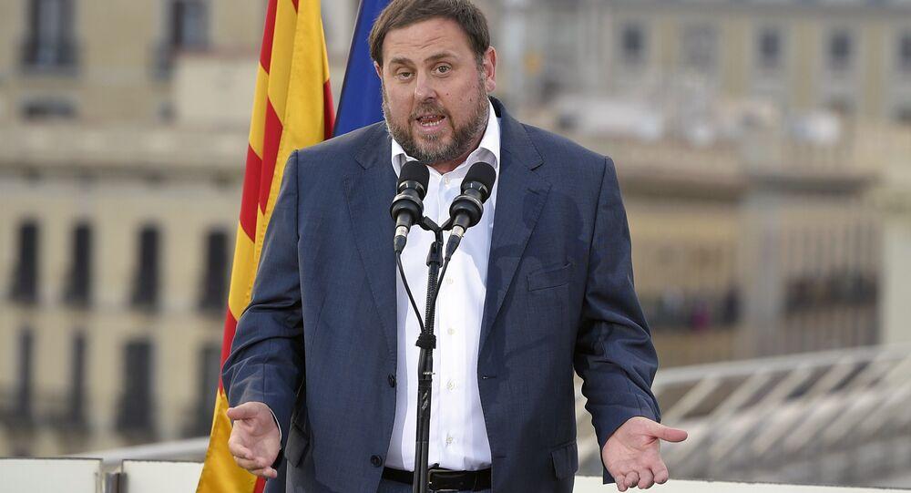 Oriol Junqueras, líder do partido ERC, membro da lista unitária catalã