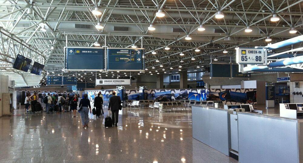 Aeroporto do Galeão.