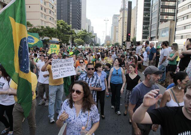 Protesto em São Paulo pelo impeachment da Presidenta Dilma