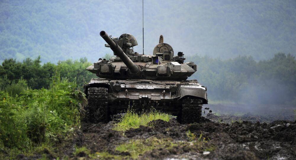 Um tanque russo