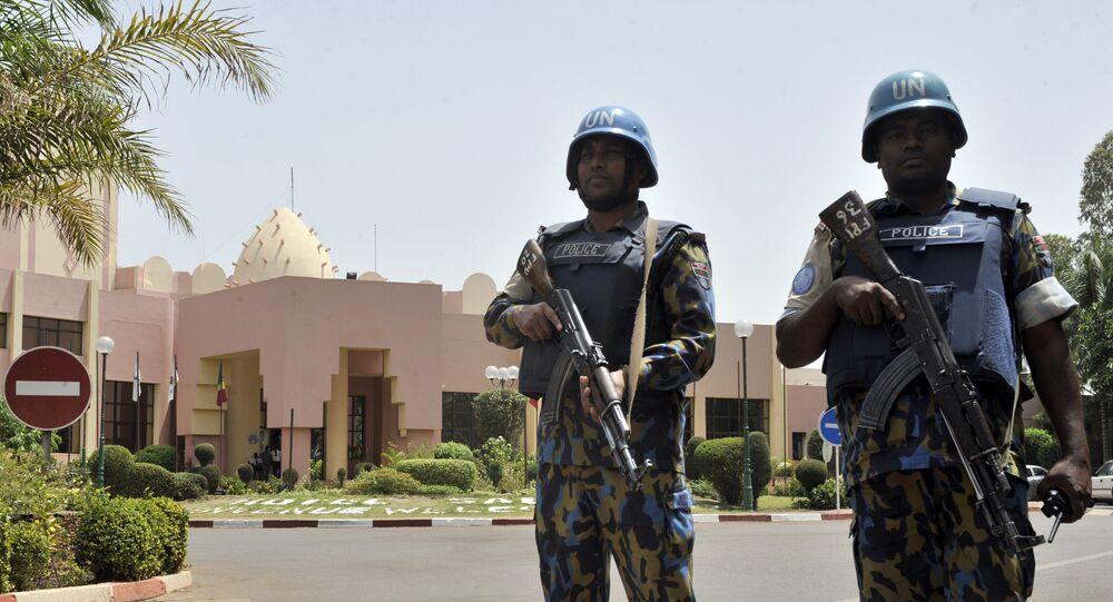 Foto de arquivo. Capacetes azuis das Nações Unidas em Mali